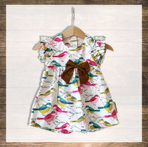 Baby Girl Dress Pretty Stylish Baby Clothes Hong Kong NinyMini Tropical Bird