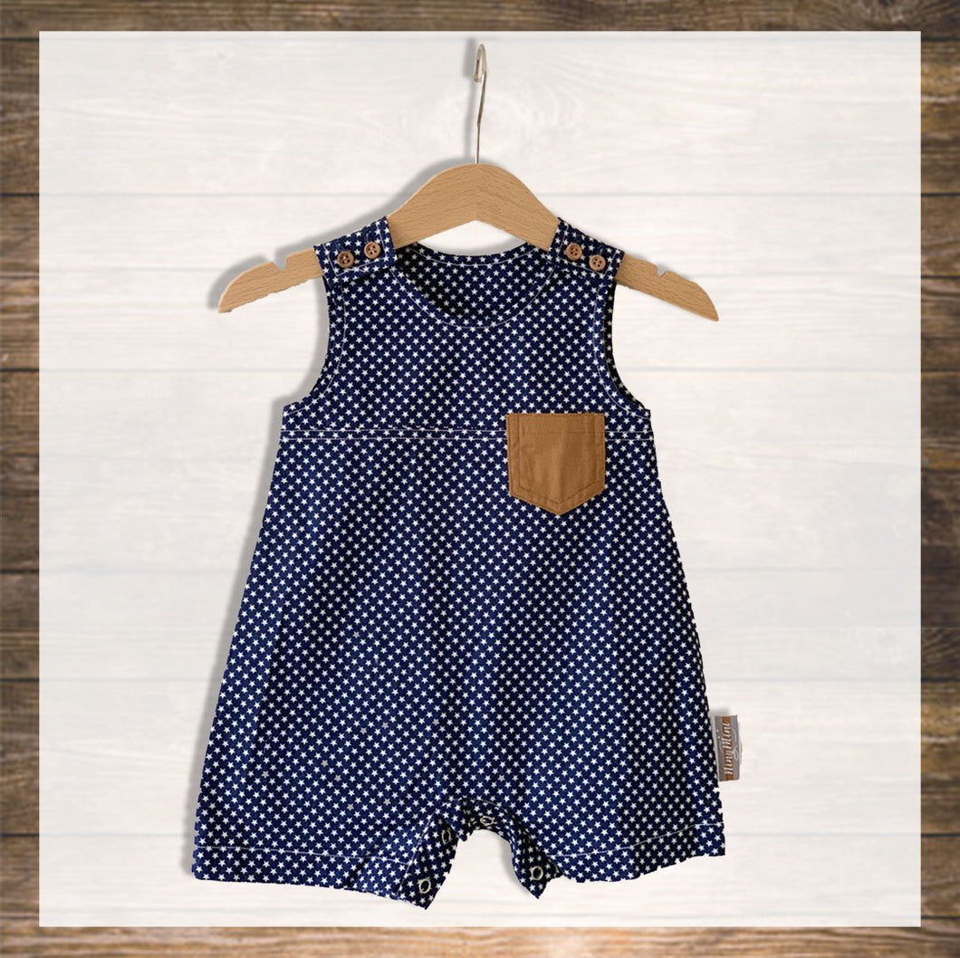 Baby Overall romper Pretty Stylish Baby Clothes Hong Kong NinyMini blue star