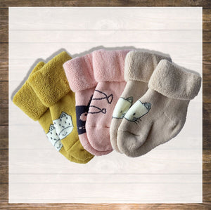 Baby Socks Cat design Super Soft NinyMini Hong Kong