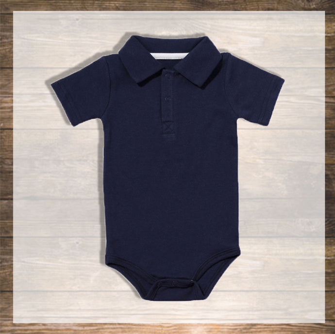 Baby boy Body Polo Short Pretty Stylish Baby Clothes Hong Kong NinyMini blue