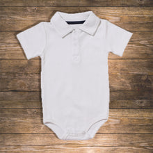 Load image into Gallery viewer, Baby boy Body Polo Short Pretty Stylish Baby Clothes Hong Kong NinyMini white