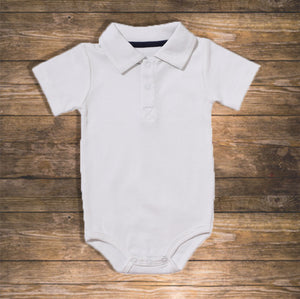 Baby boy Body Polo Short Pretty Stylish Baby Clothes Hong Kong NinyMini white