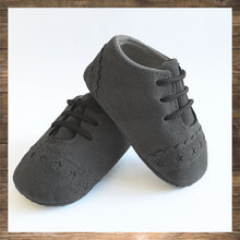 Load image into Gallery viewer, Grey Baby Shoes Moccs Pretty Stylish Hong Kong Ninymini