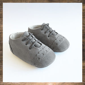 SHOES Moccs Light Grey
