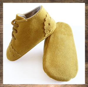 SHOES Moccs Mustard