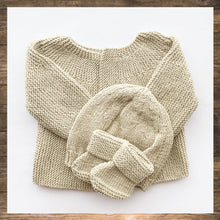 Load image into Gallery viewer, Hand Knitted Outfit Beige