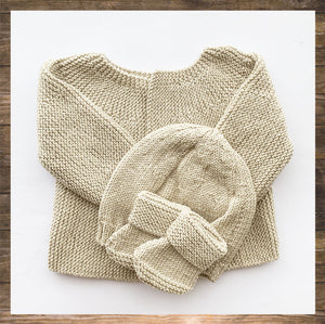 Hand Knitted Outfit Beige