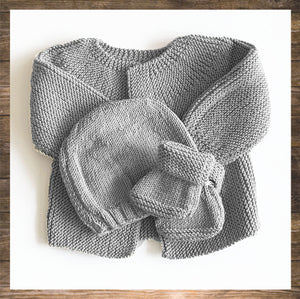 New Born and Baby Cardigan Botties beanie hand knitted Made in France soft confortable