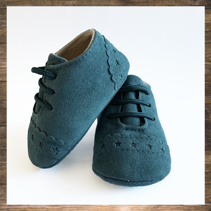 Ocean Blue Baby Shoes Moccs Pretty Stylish Hong Kong Ninymini