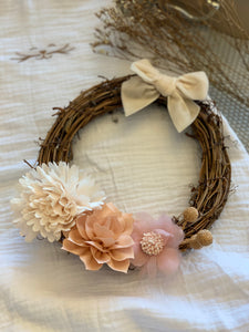 WREATH Rattan and Flower