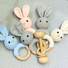 Load image into Gallery viewer, Bunny Crochet Rattle ''Poudre''