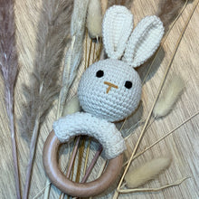 Load image into Gallery viewer, Bunny Crochet Rattle ''Beige''