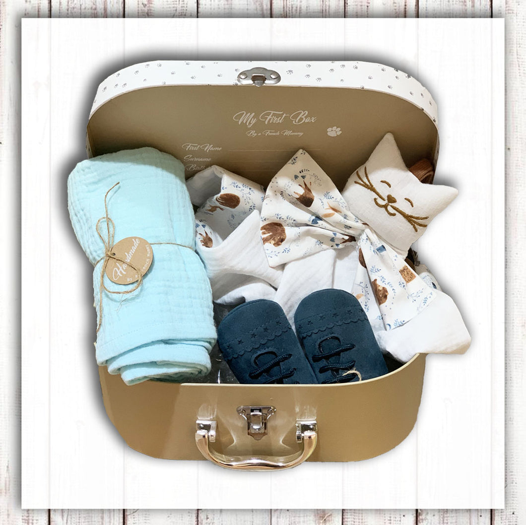 Baby set gift unisex essentiel swaddle baby shoes comforter soft toy  NinyMini Hong Kong