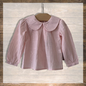 TOP GIRL LS Pink Silver