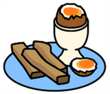 Symbol for eggs and soldiers
