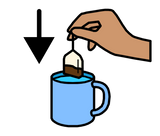 Symbol for add teabag