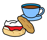 Symbol for cream tea