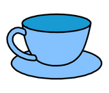Symbol for cup and saucer