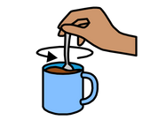 Symbol for stir tea