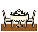 Symbol for tea room