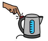 Symbol for turn on kettle