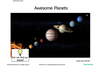 Activities-to-Go Space: Planets