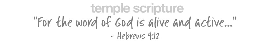 For the word of God is alive and active... - Hebrew 4:12