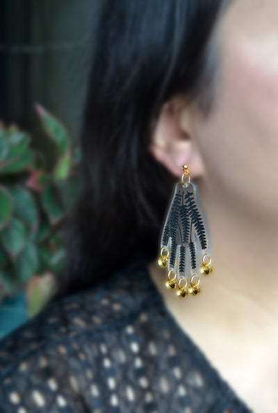 Copy of Gold Leaf Acrylic Arch Laser Cut Earrings