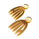 Gold Matisse Statement Earrings, Laser Cut Acrylic Jewelry 1