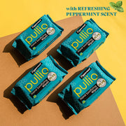 Pullio Peppermint Alcohol Free Hand Sanitizing Wipes 20 Wet Wipes | Bulk Offer