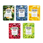 Fresh Food For Skin Facial Sheet Mask Set(Smoothing)