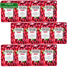 Load image into Gallery viewer, FARMSKIN Fresh Food For Skin | Cranberry Plumbing Facial Mask Sheet