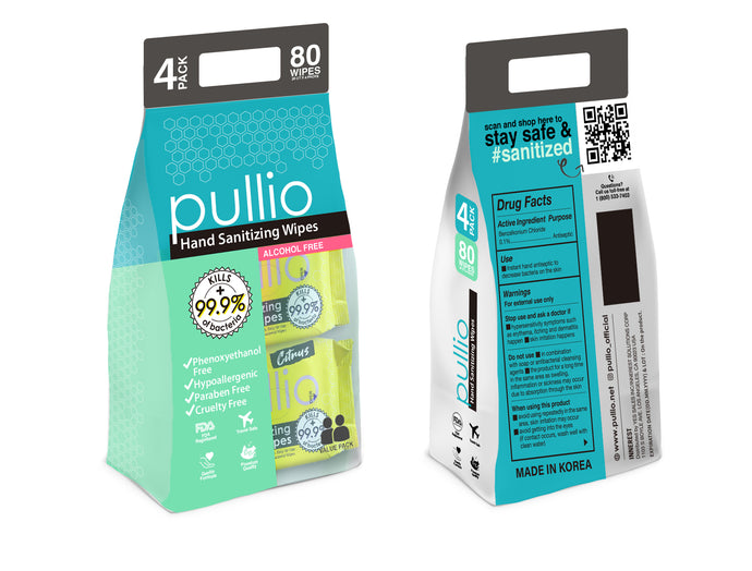 Pullio Hand Sanitizing Wipes Family Packs