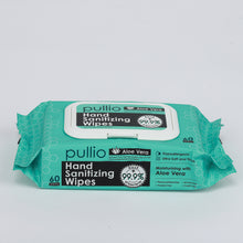 Load image into Gallery viewer, Pullio Aloe Vera Hand Sanitizer Wipes (60ct) - Alcohol Free Formula