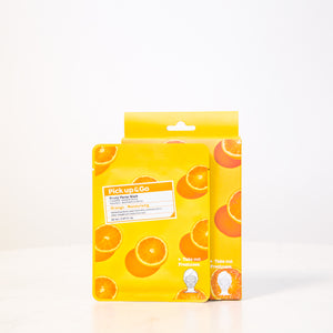 Pick Up & Go Fruity Facial Sheet Mask | Orange -Moisturizing | 5ct (4pk)