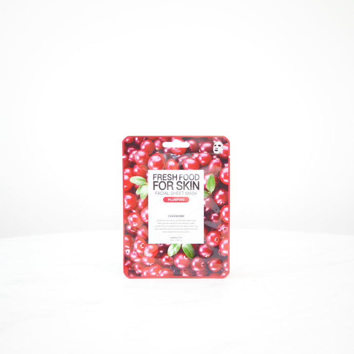 FARMSKIN Fresh Food For Skin | Cranberry Plumbing Facial Mask Sheet