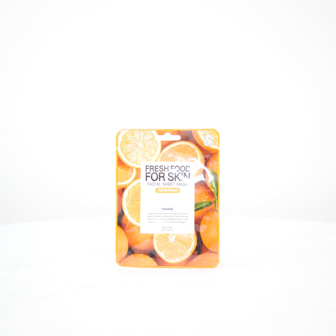 FARMSKIN Fresh Food For Skin | Orange Refreshing Facial Mask Sheet