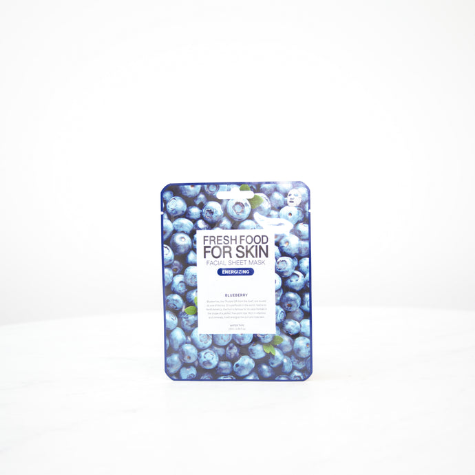 FARMSKIN Fresh Food For Skin | Blueberry Energizing Facial Mask Sheet