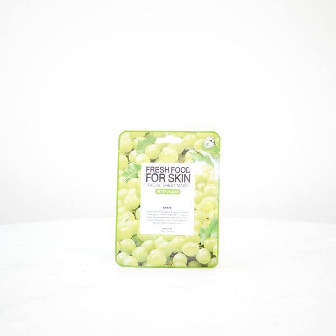 FARMSKIN Fresh Food For Skin | Grape Moisturizing Facial Mask Sheet