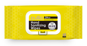 pullio Citrus Hand Sanitizer Wet Wipes (60ct)