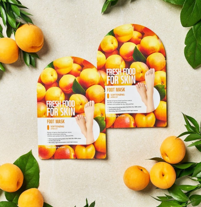 FARMSKIN Fresh Food For Skin | Apricot Softening Foot Mask