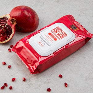 FARMSKIN Fresh Food For Skin | Facial Wipes for Dry Skin | with Pomegranate
