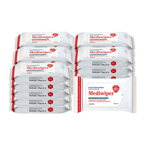 Mediwiper Alcohol-Free Hand Sanitizer Wipes (20ct) - Travel Size