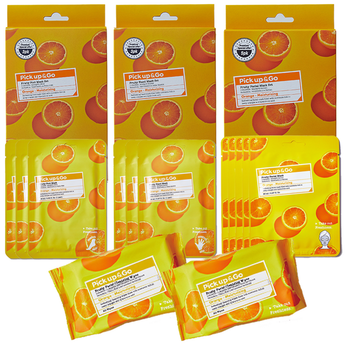 Pick Up & Go | VALUE SET | 13pc Orange Pamper Set