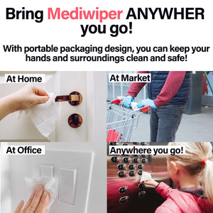 Mediwiper | Family Pack 80 Alcohol-Free Hand Sanitizing Wipes