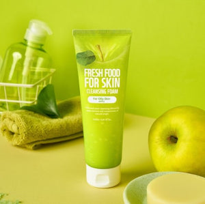 FARMSKIN Fresh Food | Facial Cleansing Foam | Oily Skin | with Apple