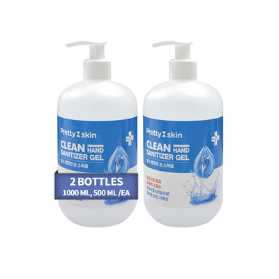 PRETTY SKIN Alcohol Hand Gel 2 Bottles (500 ml, 16.91 oz / ea)