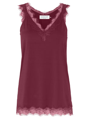 Billie Cami Wide Strap Soft Wine