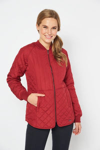 Mixed Quilt Fitted Jacket
