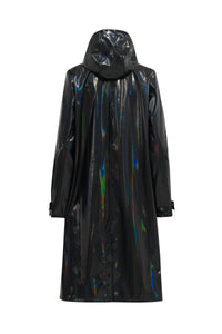 Glossy Raincoat Dark Indigo